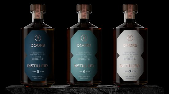 8 Doors 874 Club Whisky which will be matured in first-fill, tailor made casks from Spain, the three different expressions will be derived from seasoning and oak types chosen by John Ramsay.
