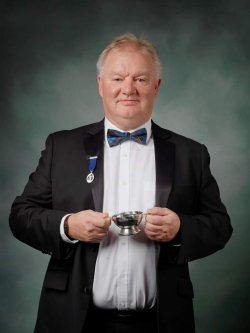 Alan McConnochie Distillery Manager for The GlenDronach, BenRiach and Glenglassaugh inducted into the Keepers of the Quaich.