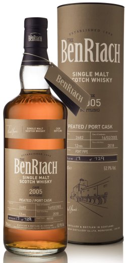 BenRiach 2005 Cask No. 2682 12 Year Old
