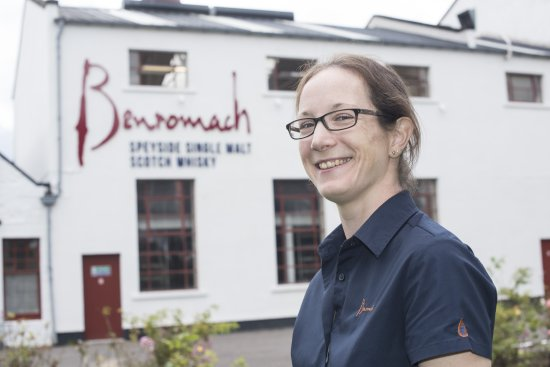 Jessica Haworth new Benromach assistant distillery manager.