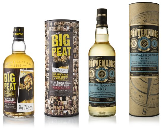 Big Peat's Pals and a single cask Provenance Caol Ila 6 Year Old Feis Ile 2017.