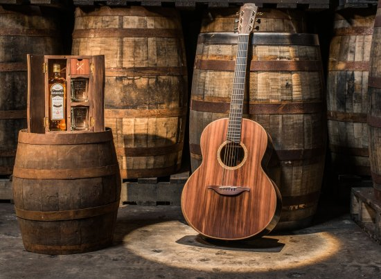 Bushmills x Lowden Guitar Made From Whiskey Barrels