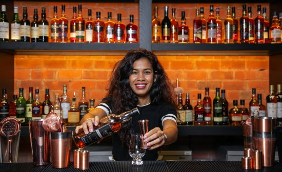 Cherry Faurie, whisky ambassador at Aberdeens new premium whisky lounge.