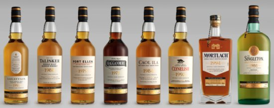 Diageo Prima & Ultima whisky Collection