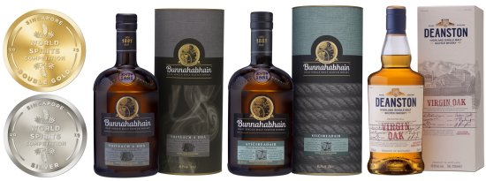 Distell's Singapore World Spirits Competition 2019 NAS Bunnahabhain and Deanston winners.