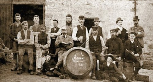 A bit of whisky history - Glenfarclas staff pictured in 1891, George Grant is the young lad sitting on the extreme right aged 17.