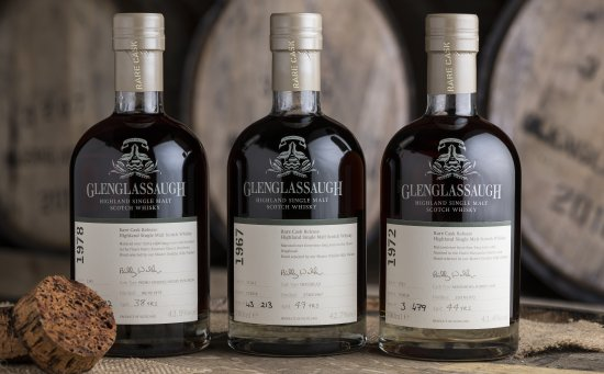 Glenglassaugh Rare Vintage Cask Collection Batch 3 L to R, 1978 Cask, 1967 Cask and 1972 Cask