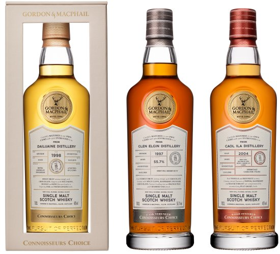 The new look Gordon & MacPhail Connoisseurs Choice whisky range.