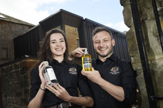 Rebecca Orr and Éoin Ó Murchú Holyrood Distillery Visitor Centre staff
