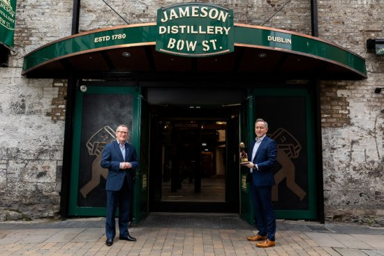 Pictured at Jameson Distillery Bow St. are Greg Hughes, Managing Director, Jameson Brand Homes at Irish Distillers and Niall Gibbons, CEO of Tourism Ireland.