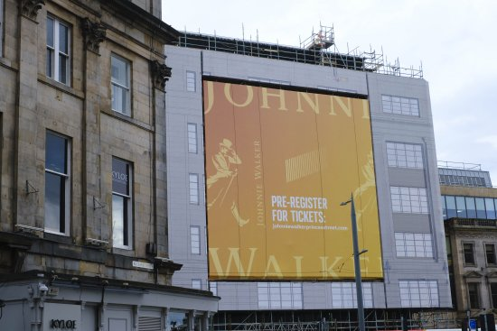 Johnnie Walker Princes Street under construction.