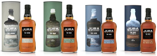 Jura Sherry Collection - (L to R) The Sound, The Road, The Loch, The Paps 19 Year Old