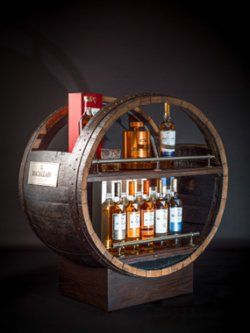 The Macallan Whisky Trolley was designed and handcrafted in Glasgow from a Macallan sherry butt.