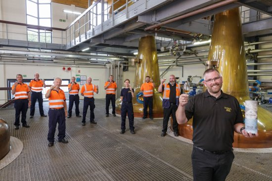The Macduff Distillery team 2020 celebrates 60 years of whisky production.