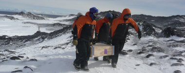 Antarctic Heritage Trust staff start the long journey transporting the whisky back to New Zealand and then Scotland