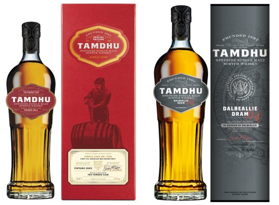 Tamdhu Dalbeallie Dram 004 and Tamdhu Club Single Cask No. 7196